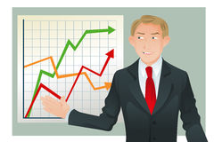 Businessman giving presentation Royalty Free Stock Images