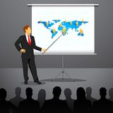 Businessman giving Presentation Royalty Free Stock Photography