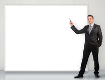 Businessman giving a presentation Stock Photography