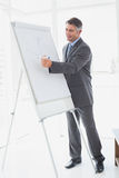 Businessman giving a presentation Royalty Free Stock Photo