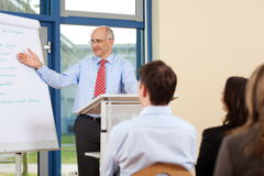 Businessman Giving Presentation To Businesspeople Stock Images