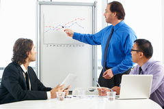 Businessman Giving Presentation To Colleagues Stock Photography
