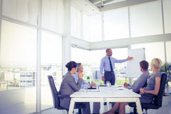 Businessman giving presentation to his colleagues Stock Image