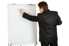 Businessman giving presentation using flipc royalty free stock photos
