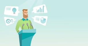 Businessman giving speech at business seminar. Stock Images