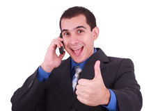 Businessman Giving Thumbs Up Stock Photography