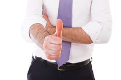 Business man giving a thumbs up. Stock Photography