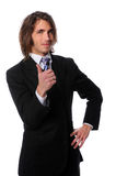 Businessman Giving the Thumbs Up Royalty Free Stock Images
