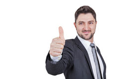 Businessman giving thumbs up Stock Image