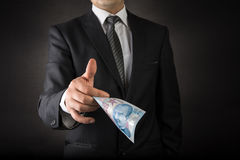 Businessman Giving Turkish Lira Stock Photos