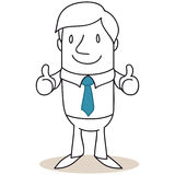 Businessman giving two thumbs up Stock Images