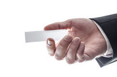 Businessman giving a visiting card Royalty Free Stock Image