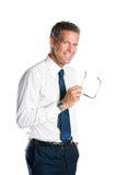 Businessman with glasses Royalty Free Stock Photography