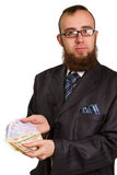 Businessman in glasses Stock Photos