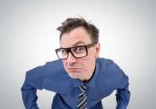 Businessman with glasses looks, concept vision Royalty Free Stock Photos