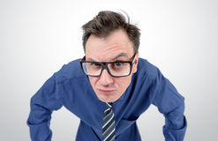 Businessman with glasses looks, concept vision Stock Photography