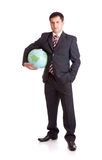 Businessman with globe Royalty Free Stock Images