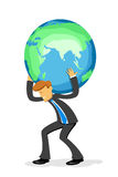 Businessman with globe Stock Photos