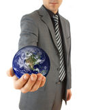 Businessman with globe Royalty Free Stock Photography