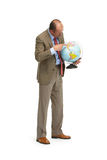 The businessman with the globe Stock Images