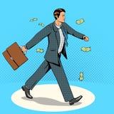 Businessman goes through money rain vector Stock Photos