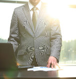 Businessman goes to work in the office Royalty Free Stock Images