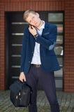 Businessman going to work Stock Photo