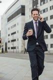 Businessman Going To Work Royalty Free Stock Photos