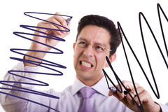 Businessman gone crazy Stock Photos