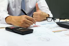 Businessman good idea plan finance Royalty Free Stock Photos