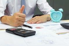 Businessman good idea plan finance Stock Image