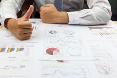 Businessman good idea summary report capital market Royalty Free Stock Photo