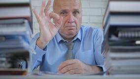 Businessman Good Job Hand Gesture OK Finger Sign royalty free stock photos