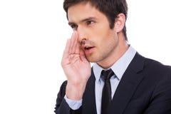Businessman gossiping. Stock Photo
