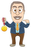 Businessman - Got medal Stock Photos