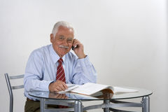 Businessman grandfather royalty free stock photo