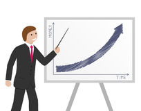 Businessman and graph Royalty Free Stock Photo