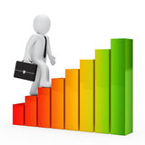 Businessman graph Stock Image