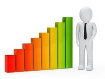 Businessman graph Stock Images