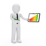 Businessman graph Royalty Free Stock Images