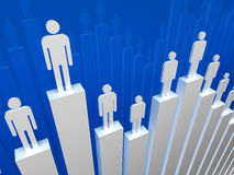 Businessman on graph Stock Image