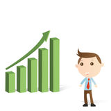 Businessman with graph Royalty Free Stock Images