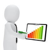 Businessman graph clipboard Royalty Free Stock Photos