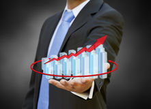 Businessman graph concept Royalty Free Stock Images