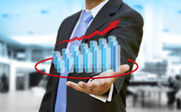 Businessman graph concept Stock Photos
