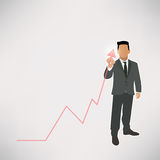 Businessman graph up  Royalty Free Stock Image