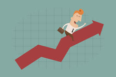 Businessman graph up Royalty Free Stock Images