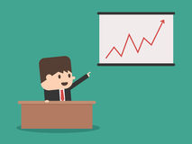 A businessman with graph vector royalty free illustration