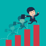 Businessman graph Royalty Free Stock Photo