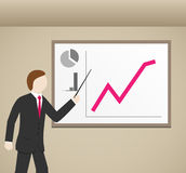 Businessman and graphs Royalty Free Stock Photography